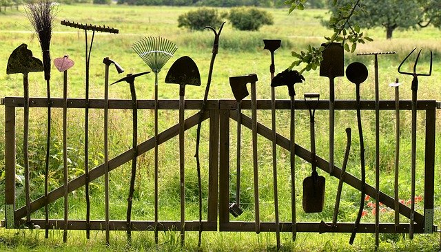 care and maintain garden tools