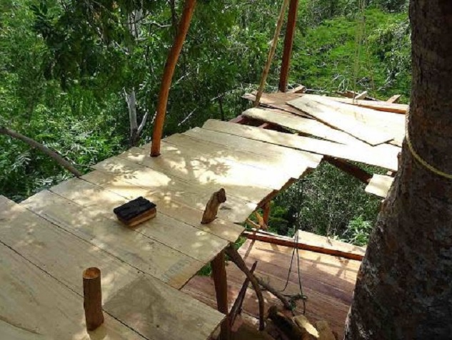 leveling the treehouse floor