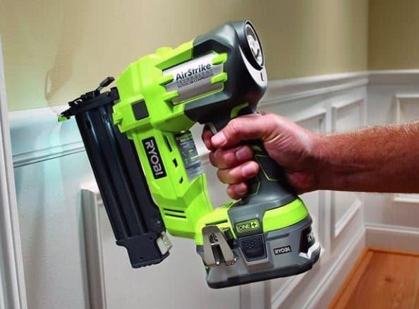 a nail gun for trim work